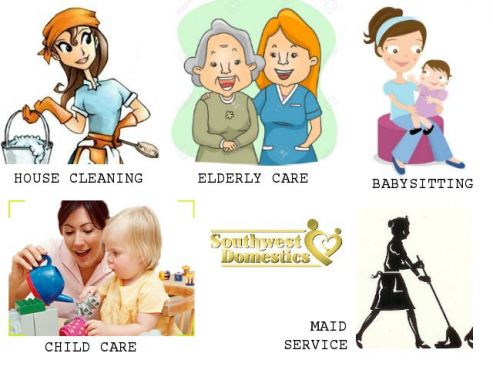 We provide Nannies,domestics,Maids, houseboys and gardeners to work for you on fulltime/part time/daily