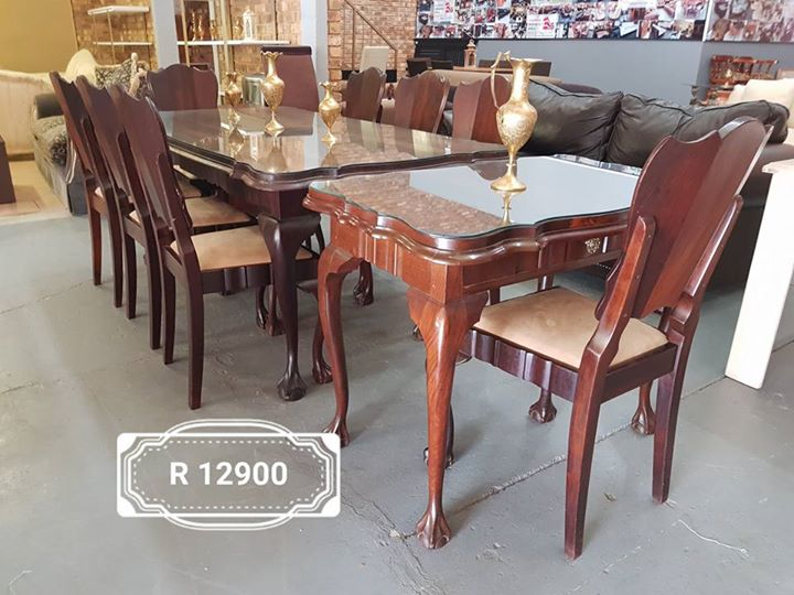 Antique 80 year old 8 seater Ball and Claw dining suite