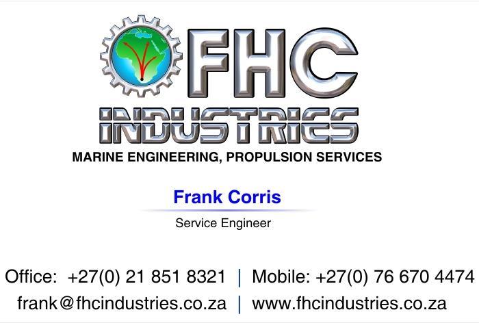 frank@fhcindustries.com, MARINE ENGINEERING, PROPULSION SERVICES - REPAIRS & MAINTENANCE COMPANY