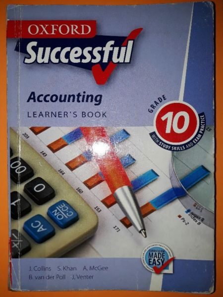 Accounting - Learner's Book - Grade 10 - Oxford Successful - J. Collins. for sale  Johannesburg - East Rand