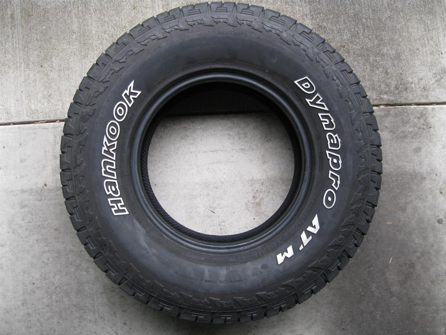 New HANKOOK DYNAPRO ATM  265/65/R17 Tyres only R7500  {Set of 4}