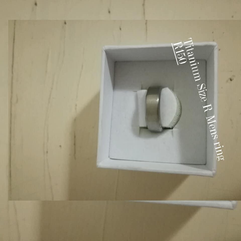 Titanium R men's ring