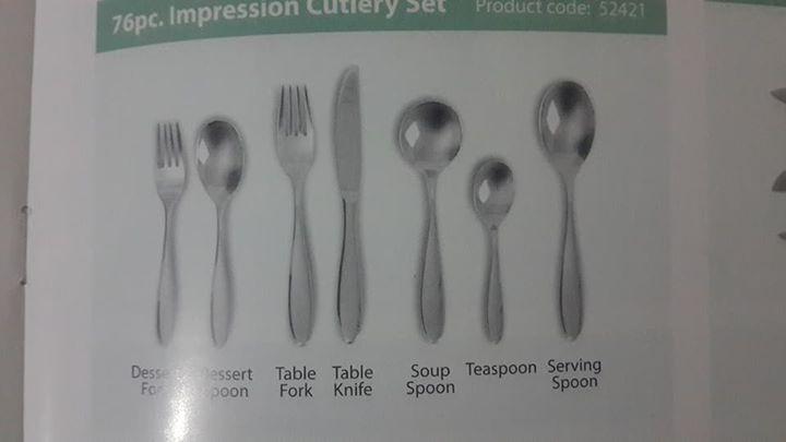 AMC 76pc cutlery