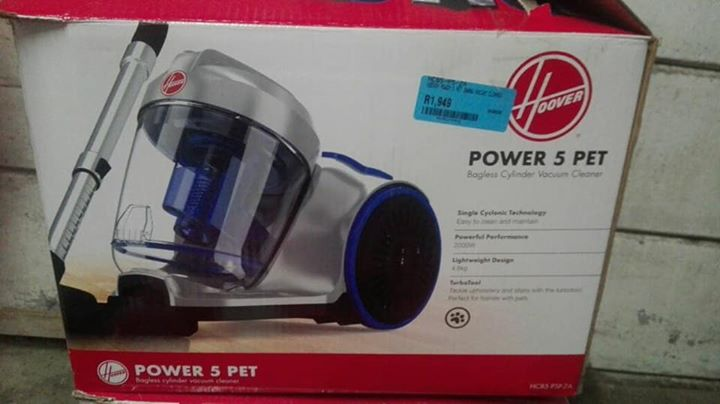 Hoover power 5 bagless cylinder vacuum cleaner for sale
