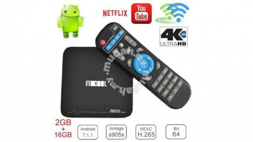 Mecool m8s pro+ Android 7.1 TV Box (Preloaded with DSTV Now, Showmax, Netflix, Terrarium TV,  Kodi 17.6,Supersport