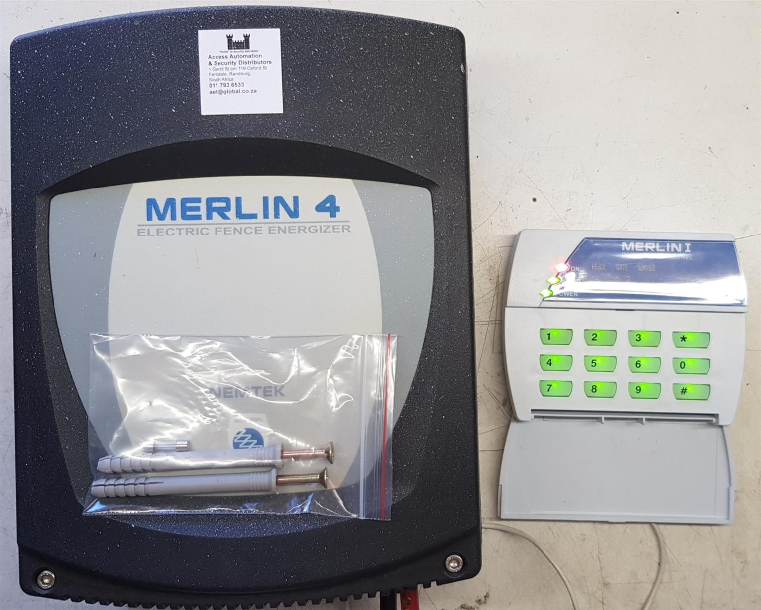 Nemtek Merlin 4 with Keypad Electric Fence Energizer