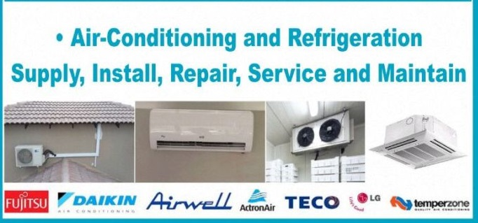 Commercial and Residential Air Conditioners Installation, Repairs, Regas and Supply 0833726342