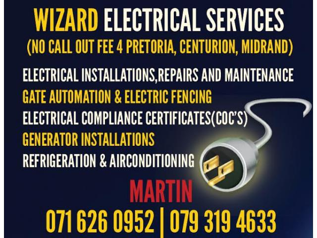 All Electrical Services Requirements Pretoria , Centurion & Midrand