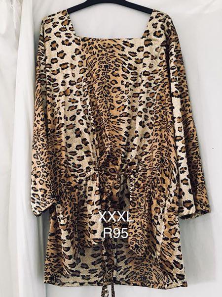 XXXL Leopard print blouse