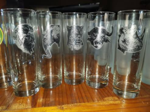 Big five drinking glasses