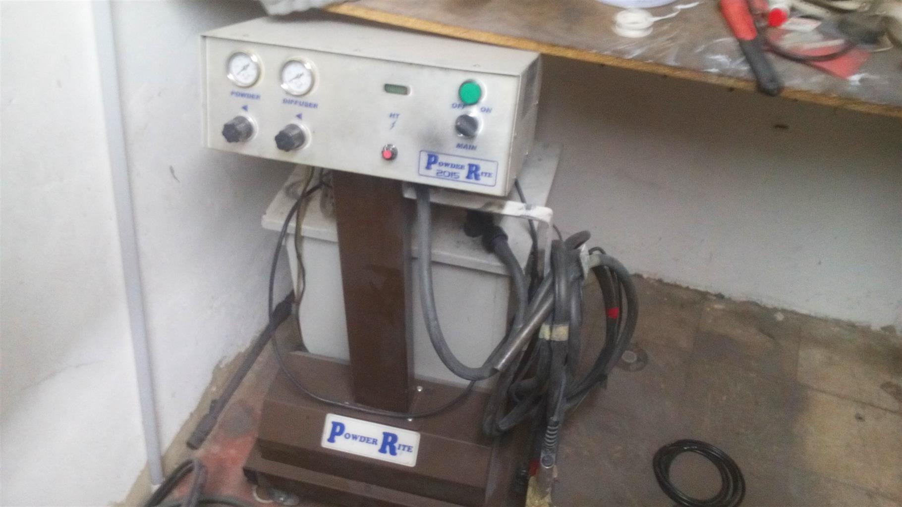 powder coating machine to swop for a sand blasting pot 100l pot