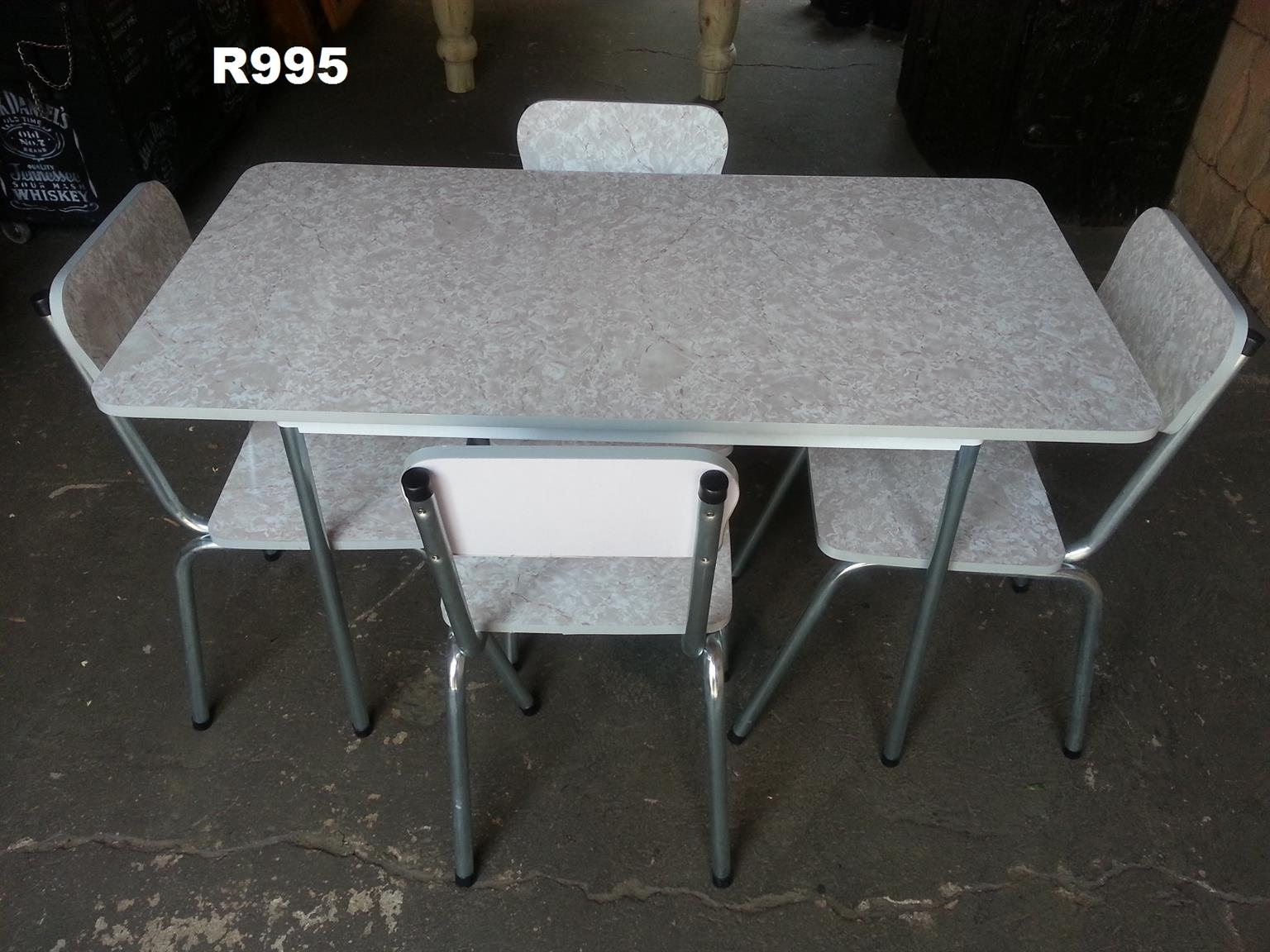 Panelite Kitchen Table with 4 Chairs (1205x625x740)