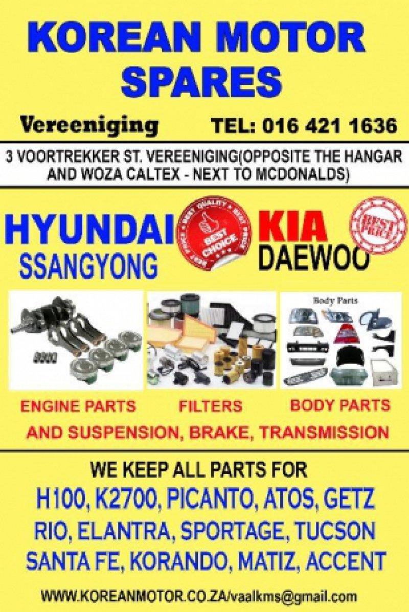 Spares Hyundai Kia SsangYong Daewoo