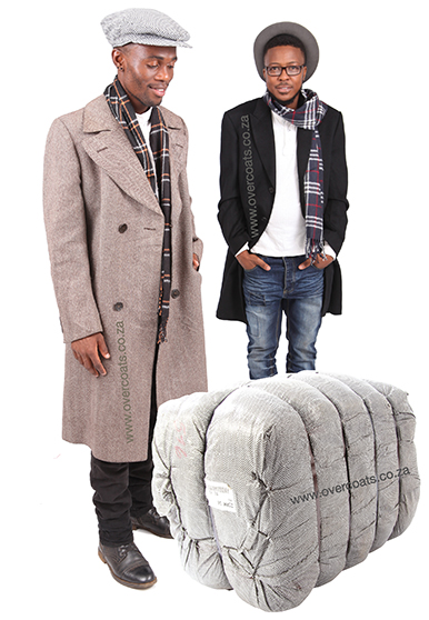 Second-hand men's jackets and coats sold in bundles. Buy a bale. Make your own cash!