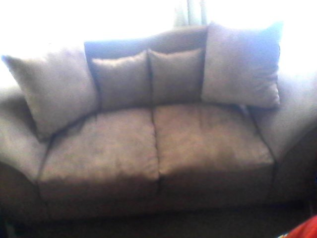 Brown Suede Couch - Excellent Condition