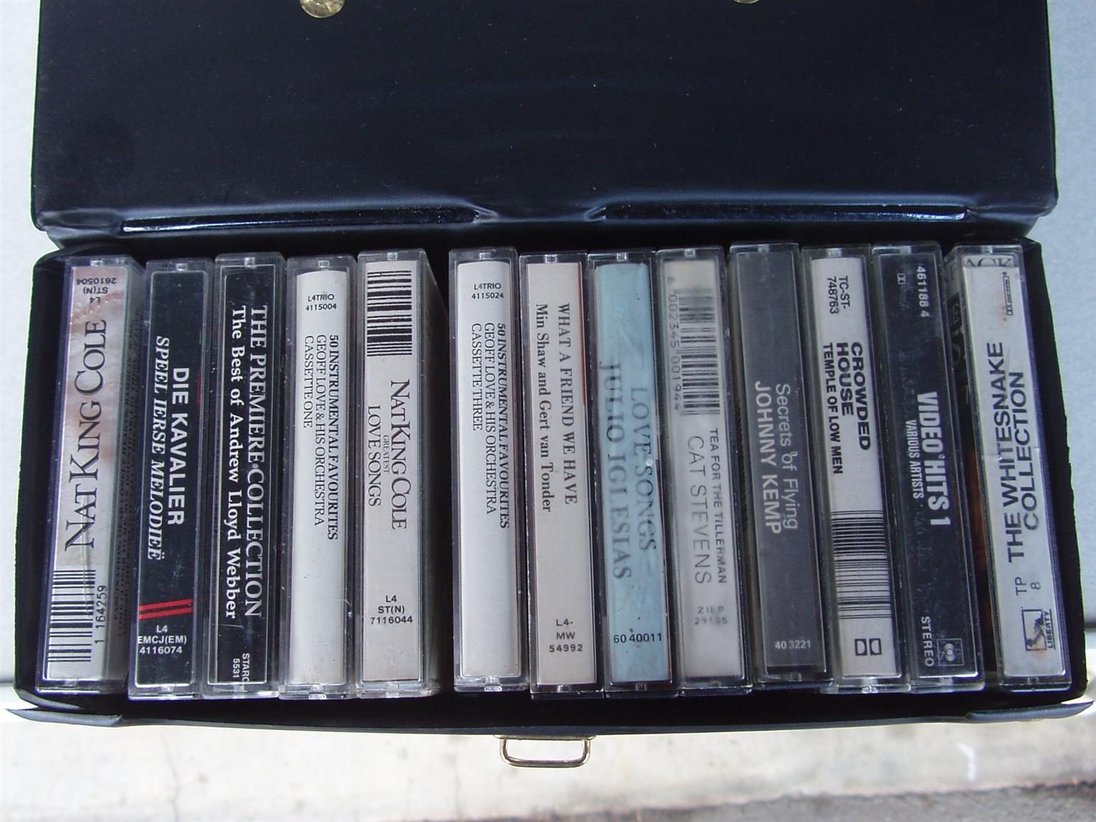 Music Cassettes - 13 cassettes in case