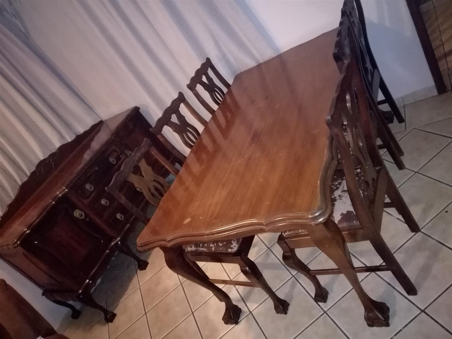Sideboard and dining table with chairs for sale