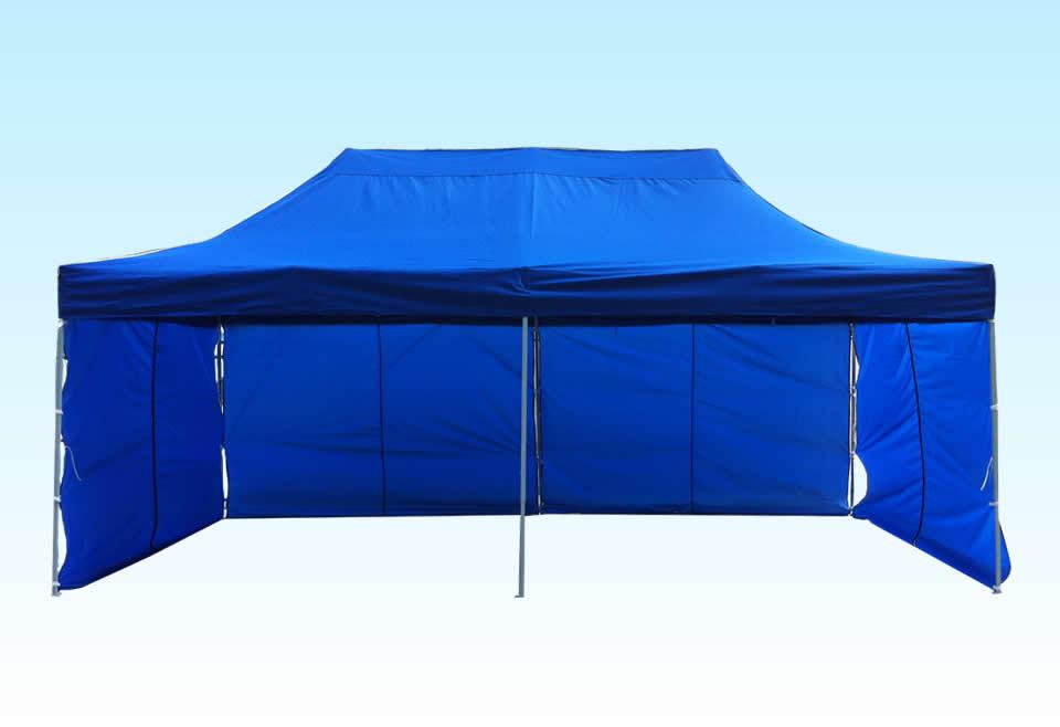 heavy duty gazebo blue 3m x 3m