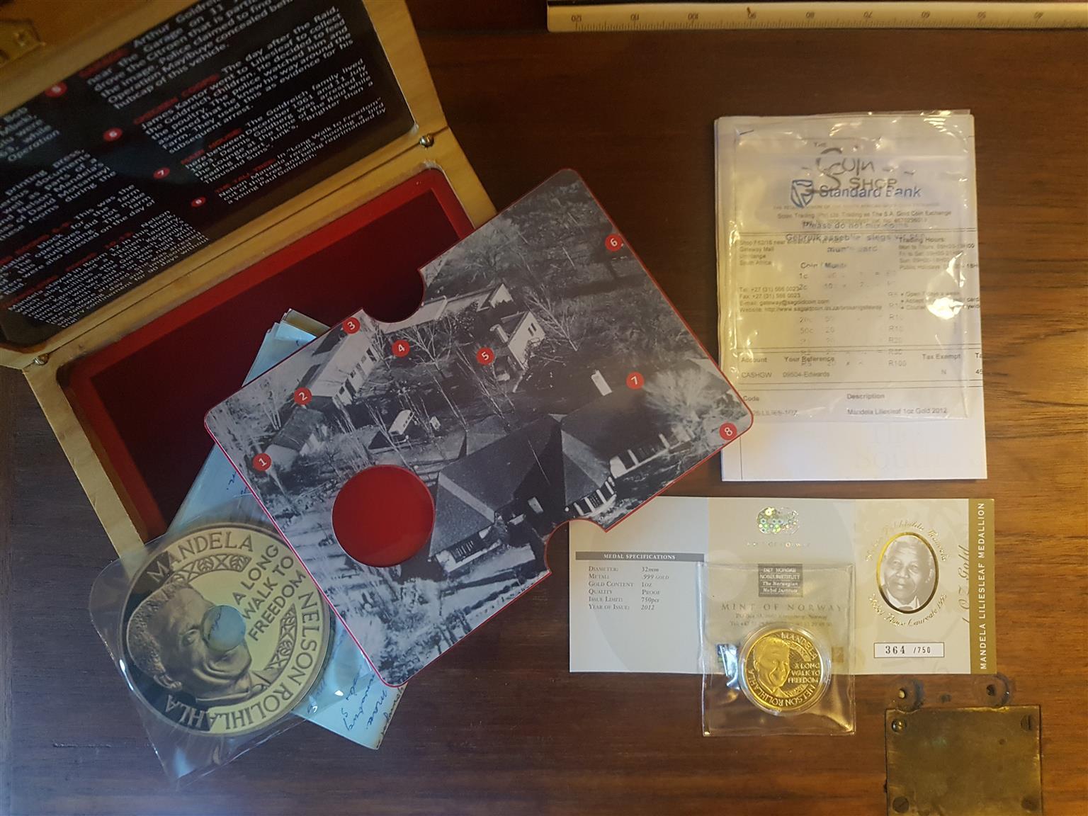 Nelson Mandela Liliesleaf 1oz Gold Coin 750 mint | Junk Mail