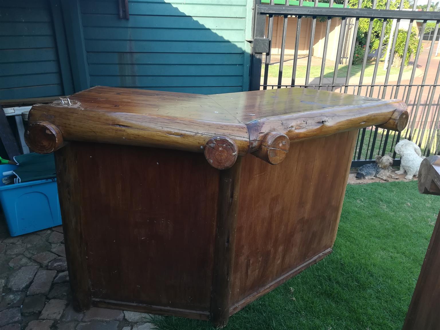 Solid wood bar