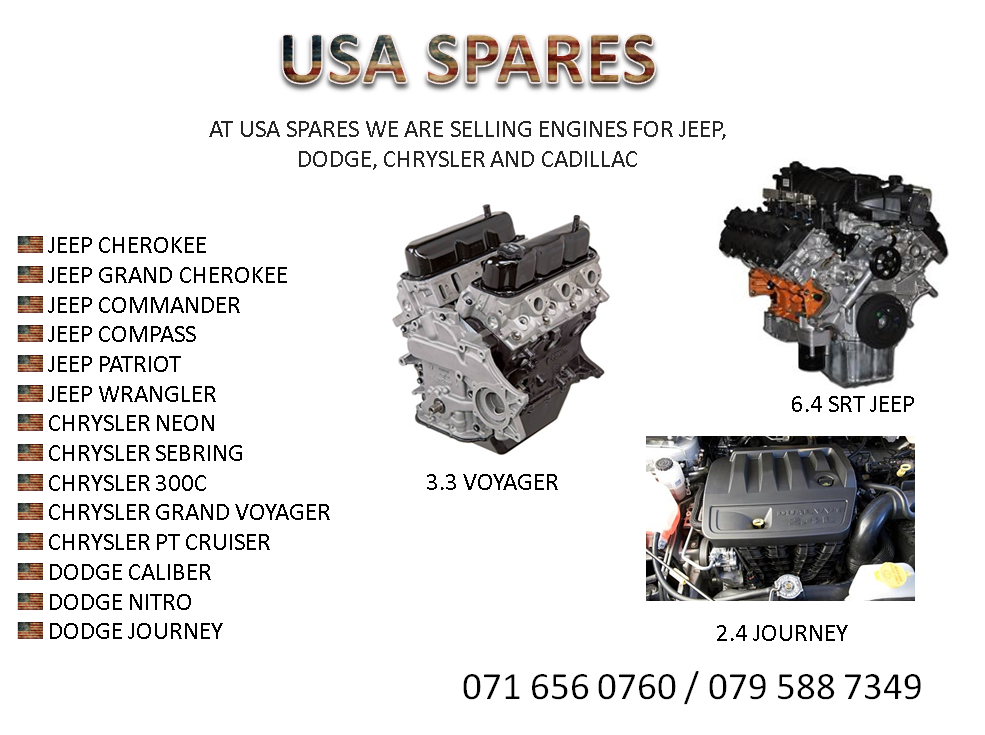 ENGINE FOR SALE JEEP, DODGE, CHRYSLER AND CADILLAC