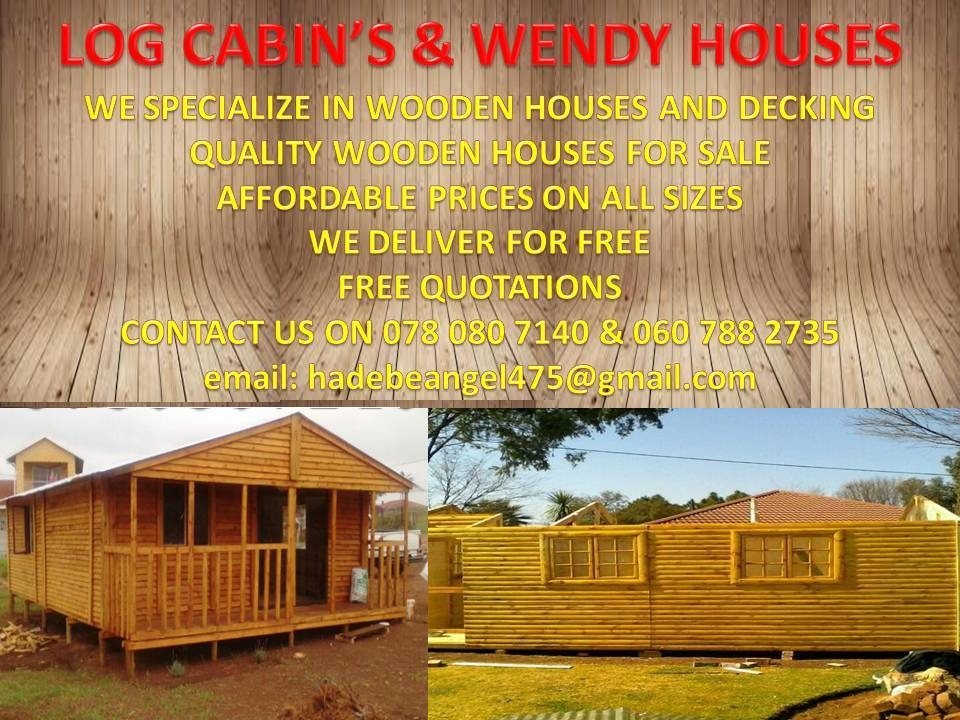 We specialize in wooden houses & Decking Quality wooden houses for sale