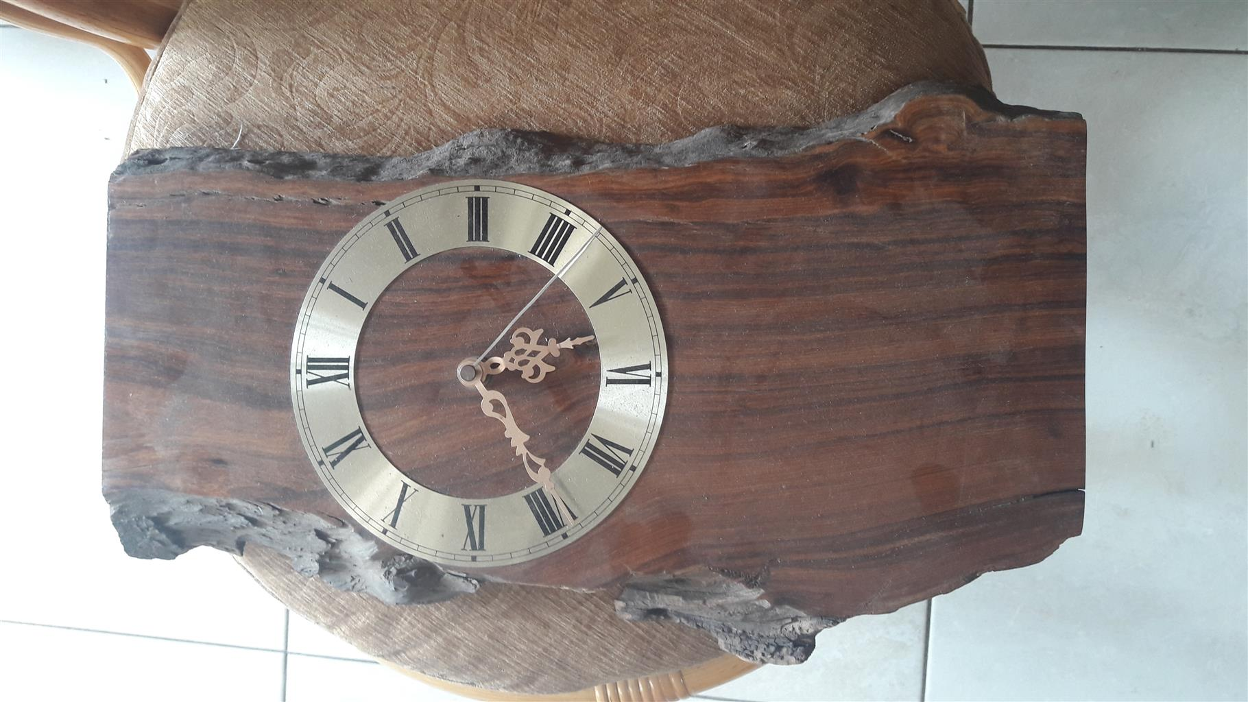2x Beautiful Wooden Wall Clocks. R300 for both