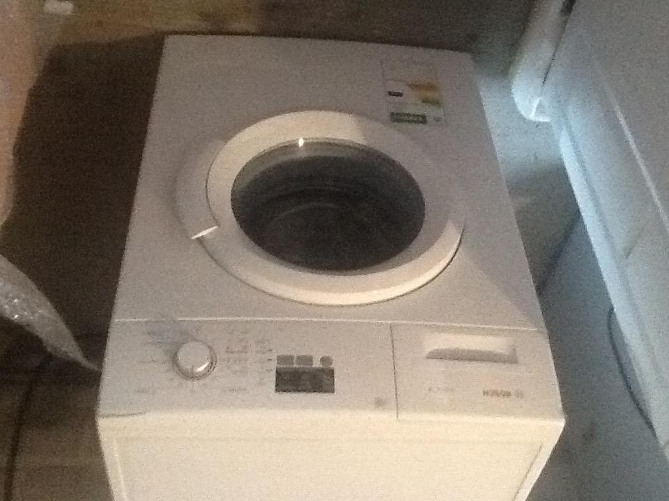 New Bosch 5.5 front loader washing machine in white.