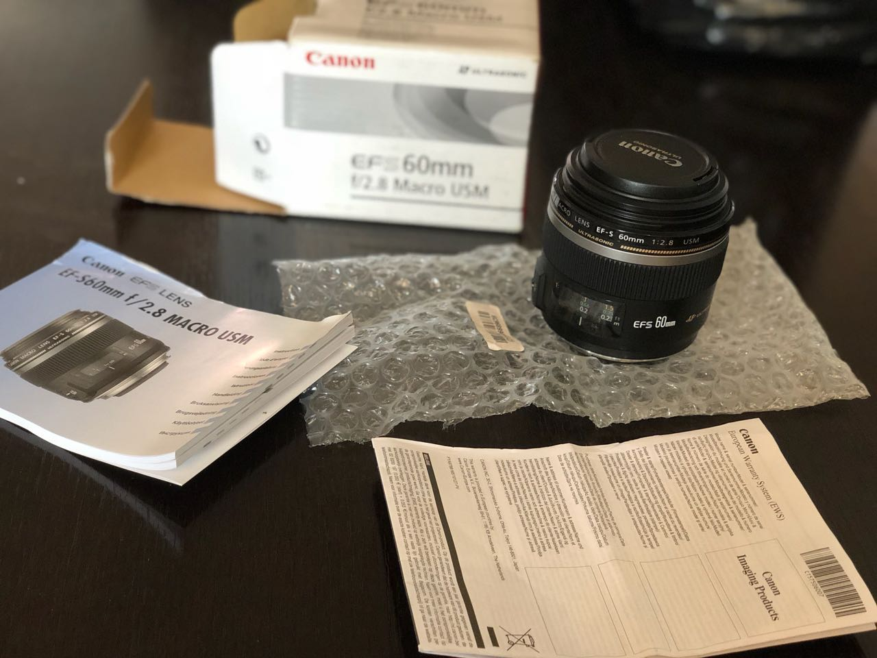 Brand New UltraSonic Canon EFS EF-S60mm f/ 2.8 Macro USM Lens for Sale...