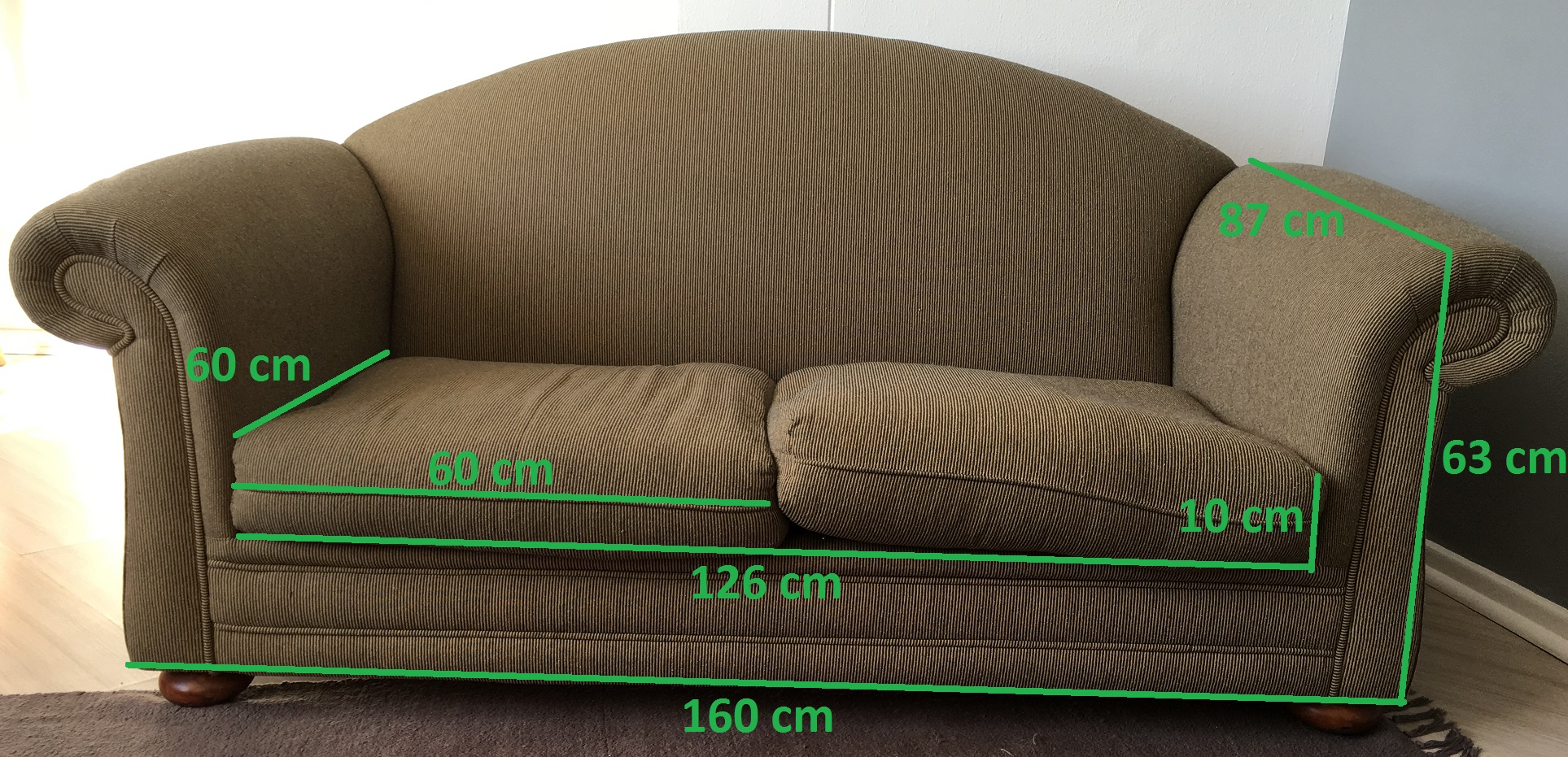 2 Stylish, comfortable couches.