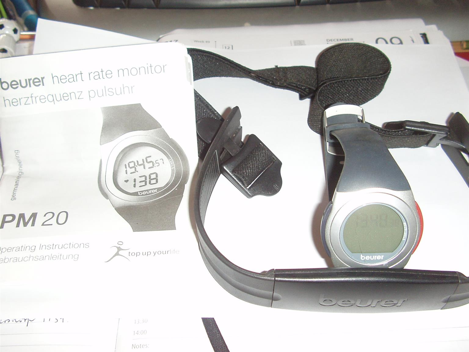 Beurer Watch - Heart rate monitor - Exact ECG Heart rate measurement- Stopwatch and Time of day watch