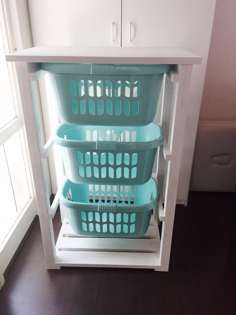 Laundry Basket Holder Cottage series 770 white washed