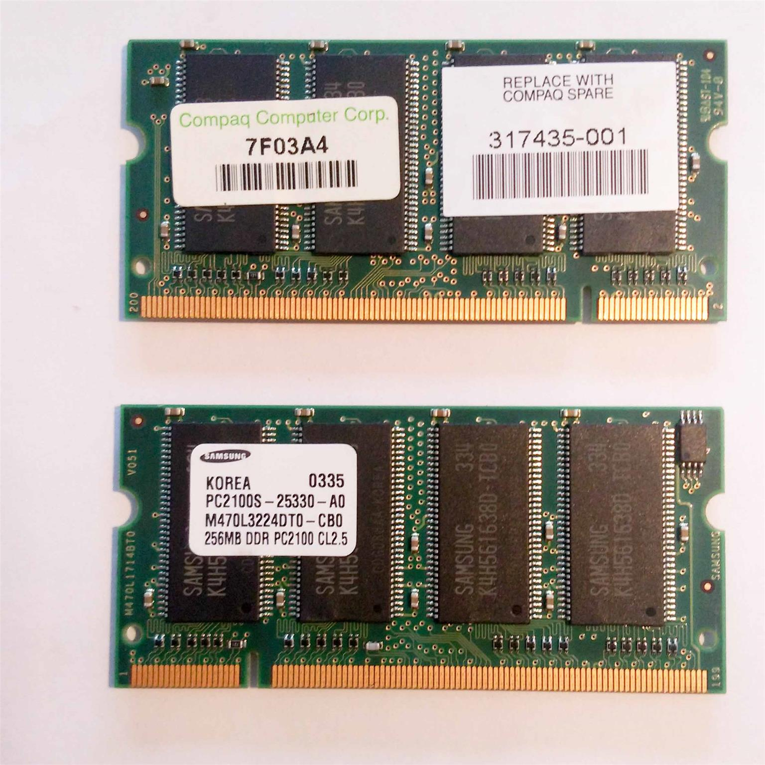 256MB DDR PC2100 CL2.5