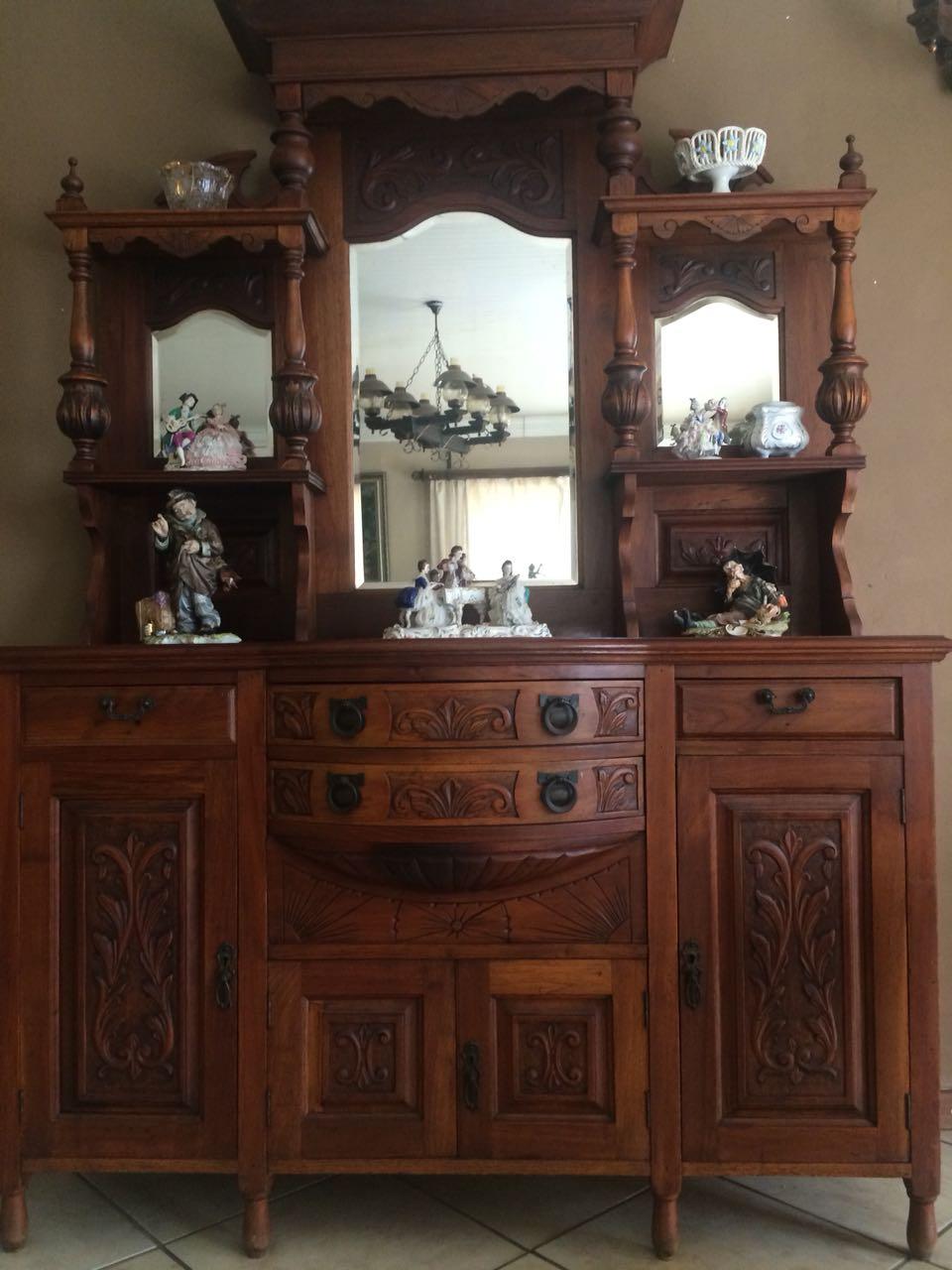 A Genuine Antique Oak Display Cabinet - A Genuine Antique Oak Display Cabinet Junk Mail