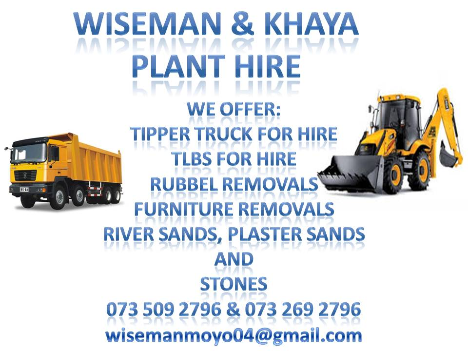 EARTH MOVING MACHINERY FOR HIRE