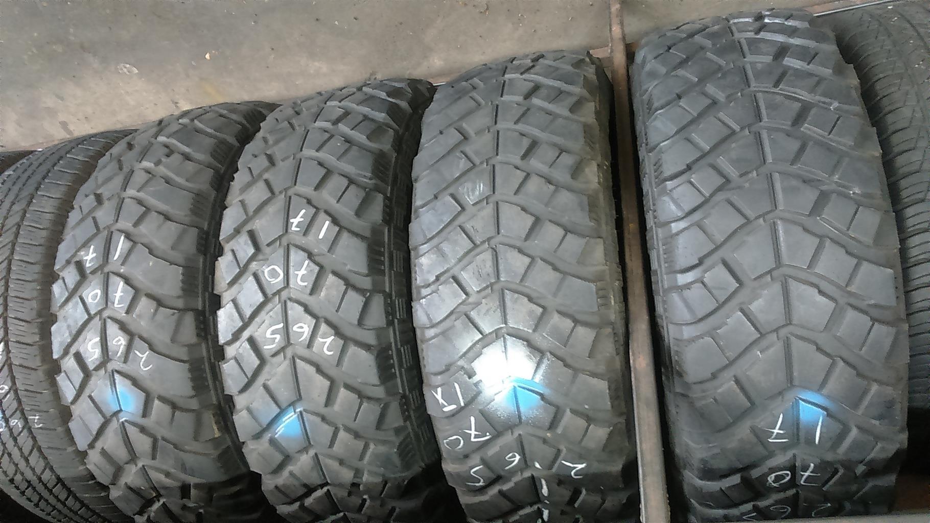 "Mudtterains tyres 265/70/17"""