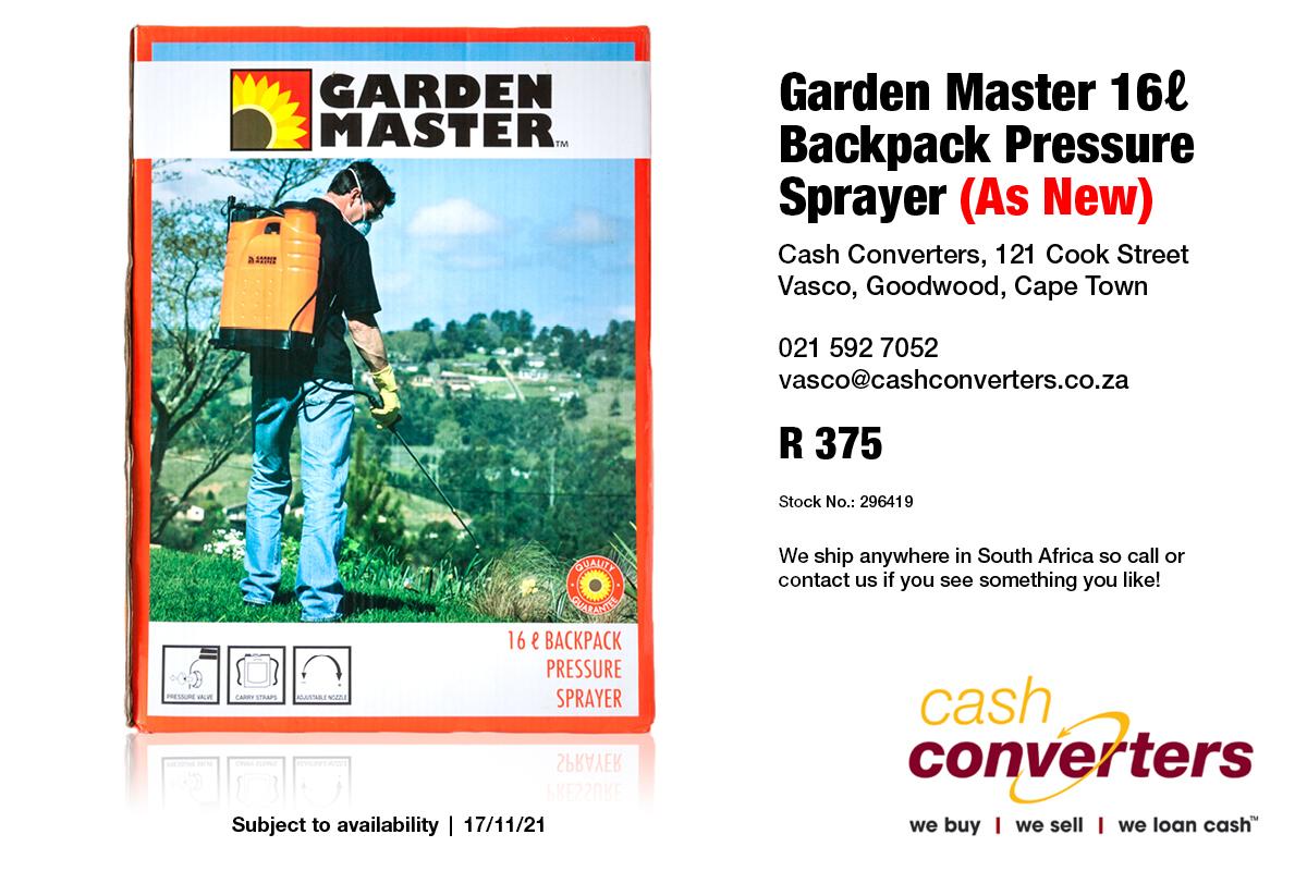 Garden Master 16ℓ Backpack Pressure Sprayer (As New)