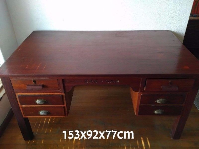 discount antique old south africa railway office desk for sale