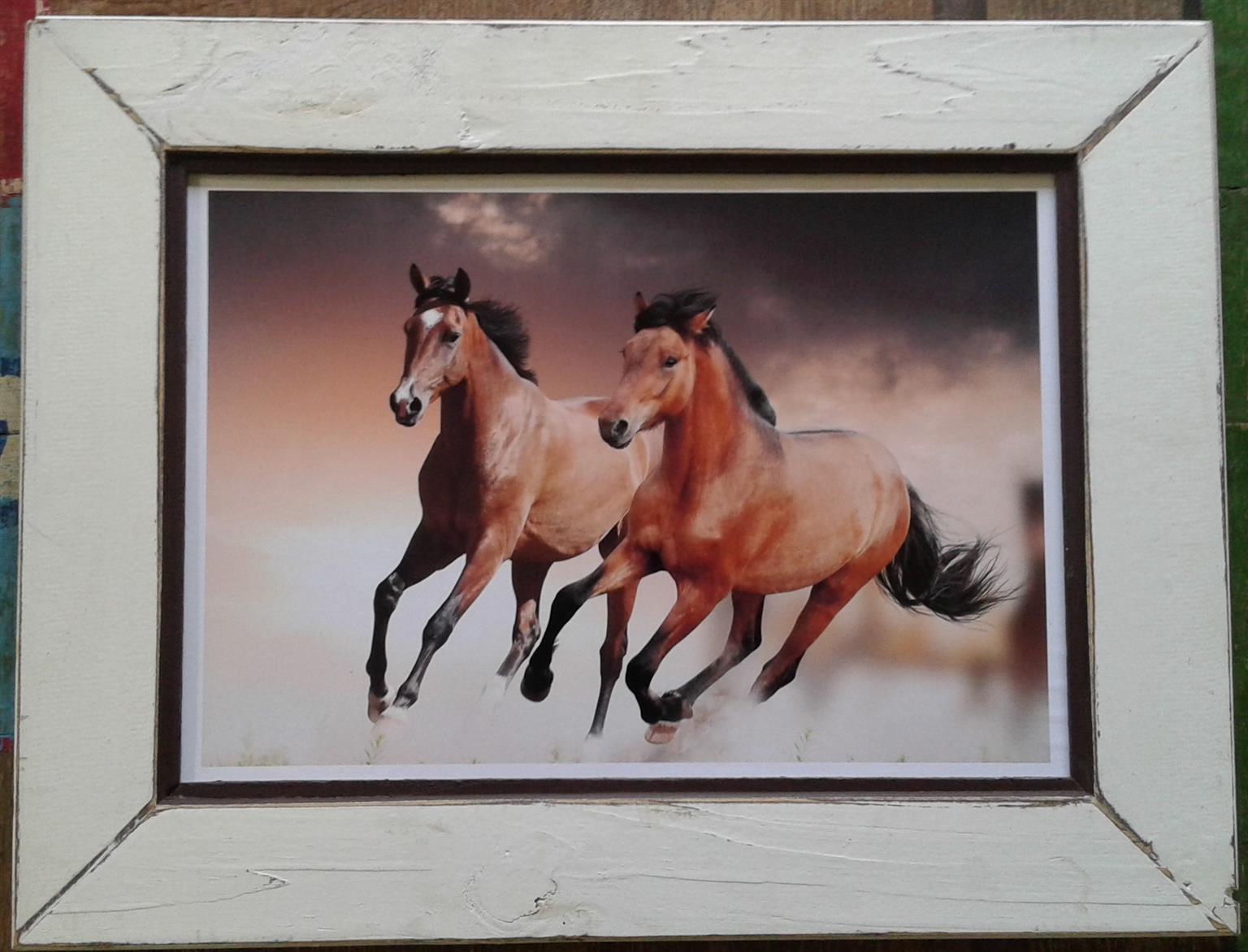 Framed Print: 2 Horses... Home decor. Wall Art.