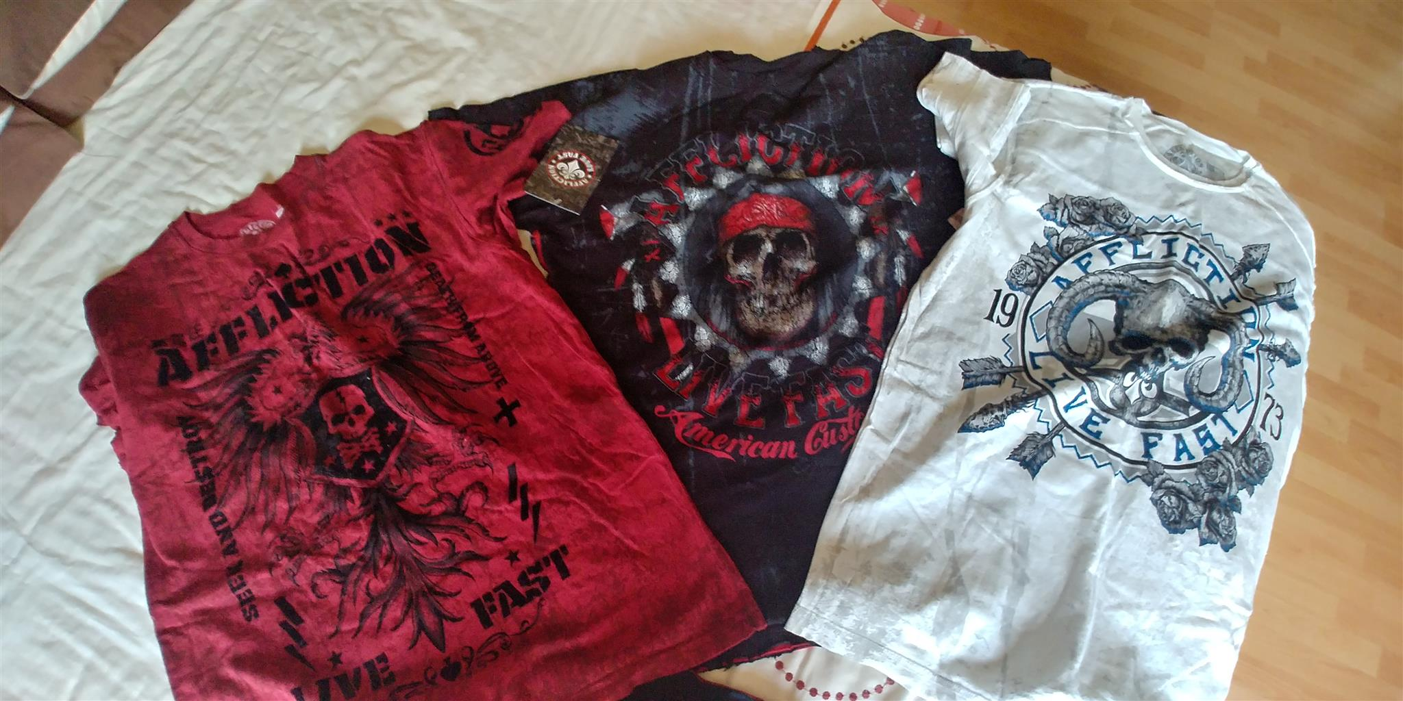 Brand New men's Affliction Shirts imported from USA