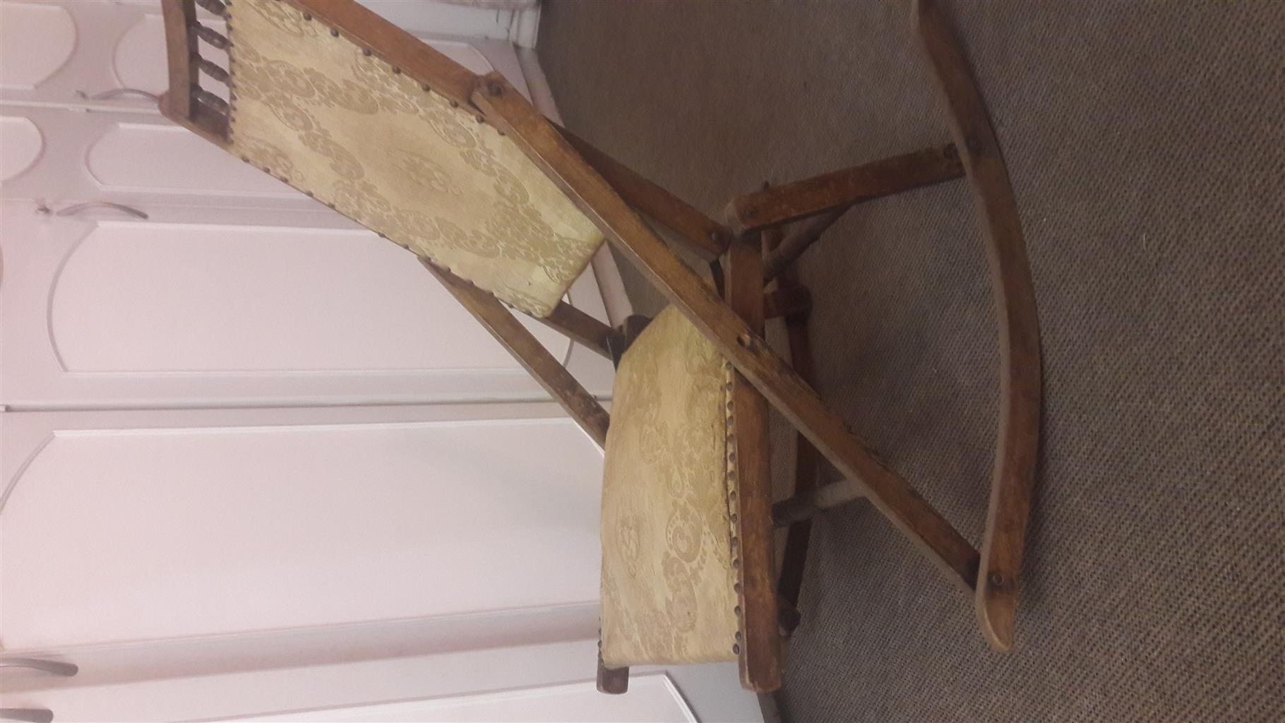 Pre 1900 Folding Rocking Chair Junk Mail