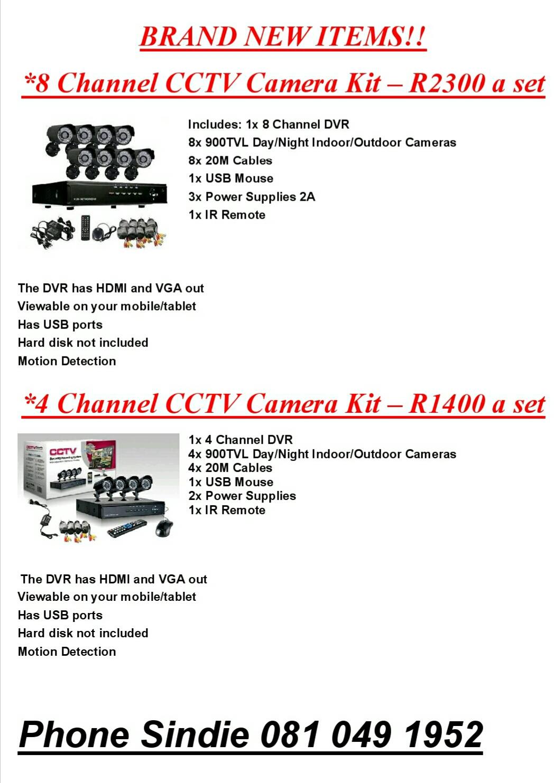 Cctv security camera sets