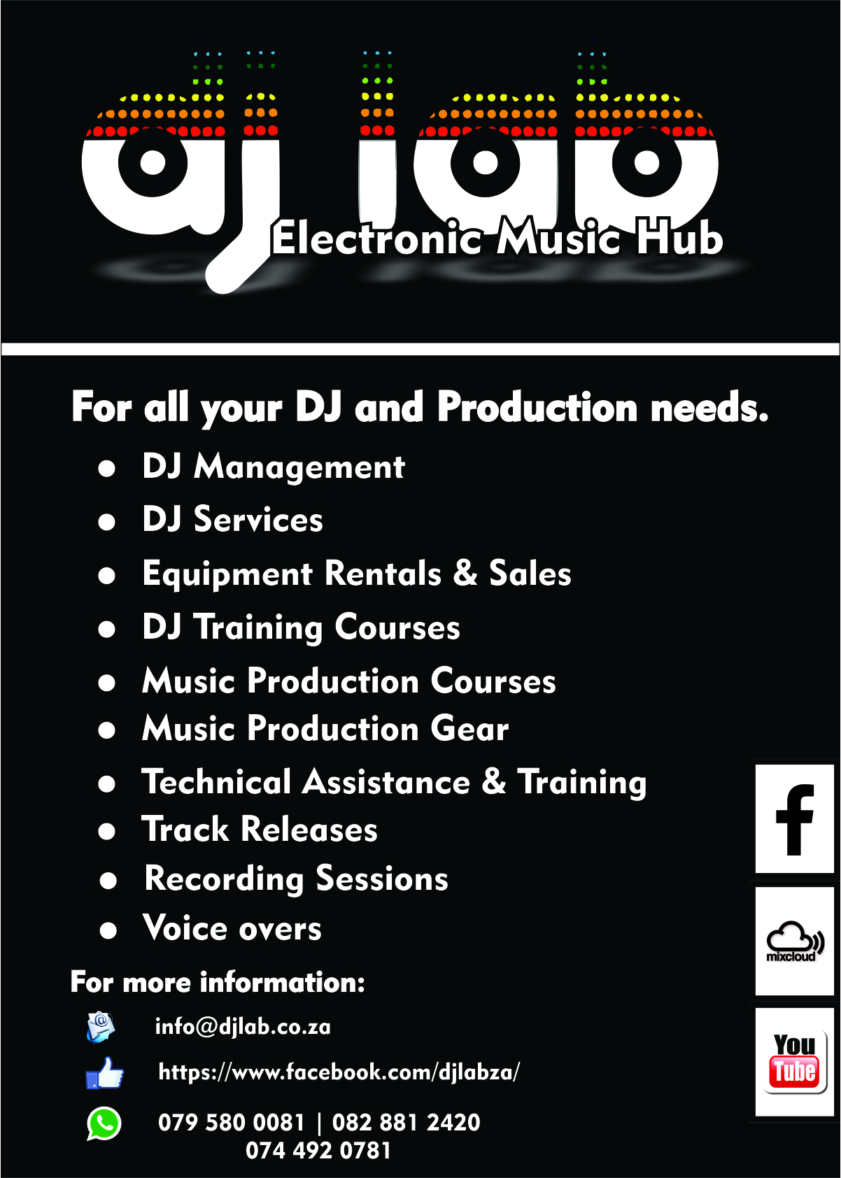 DJ, Music Production, Services, Training, School, Academy, Sales