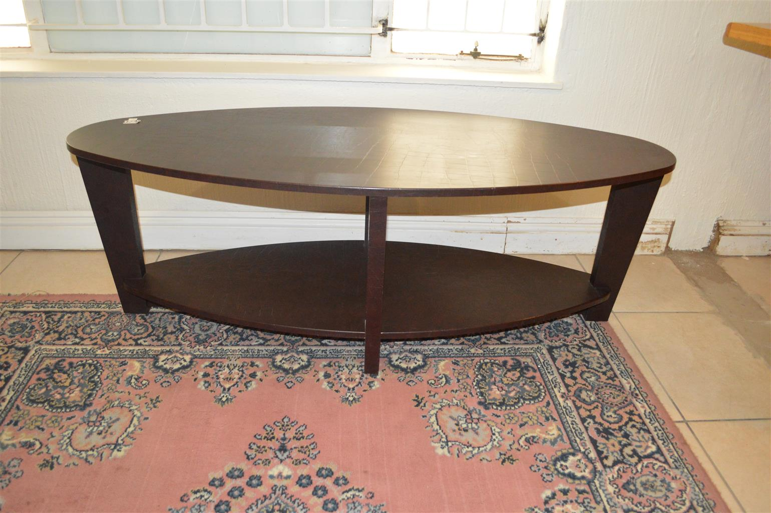 Dark wood small coffee table