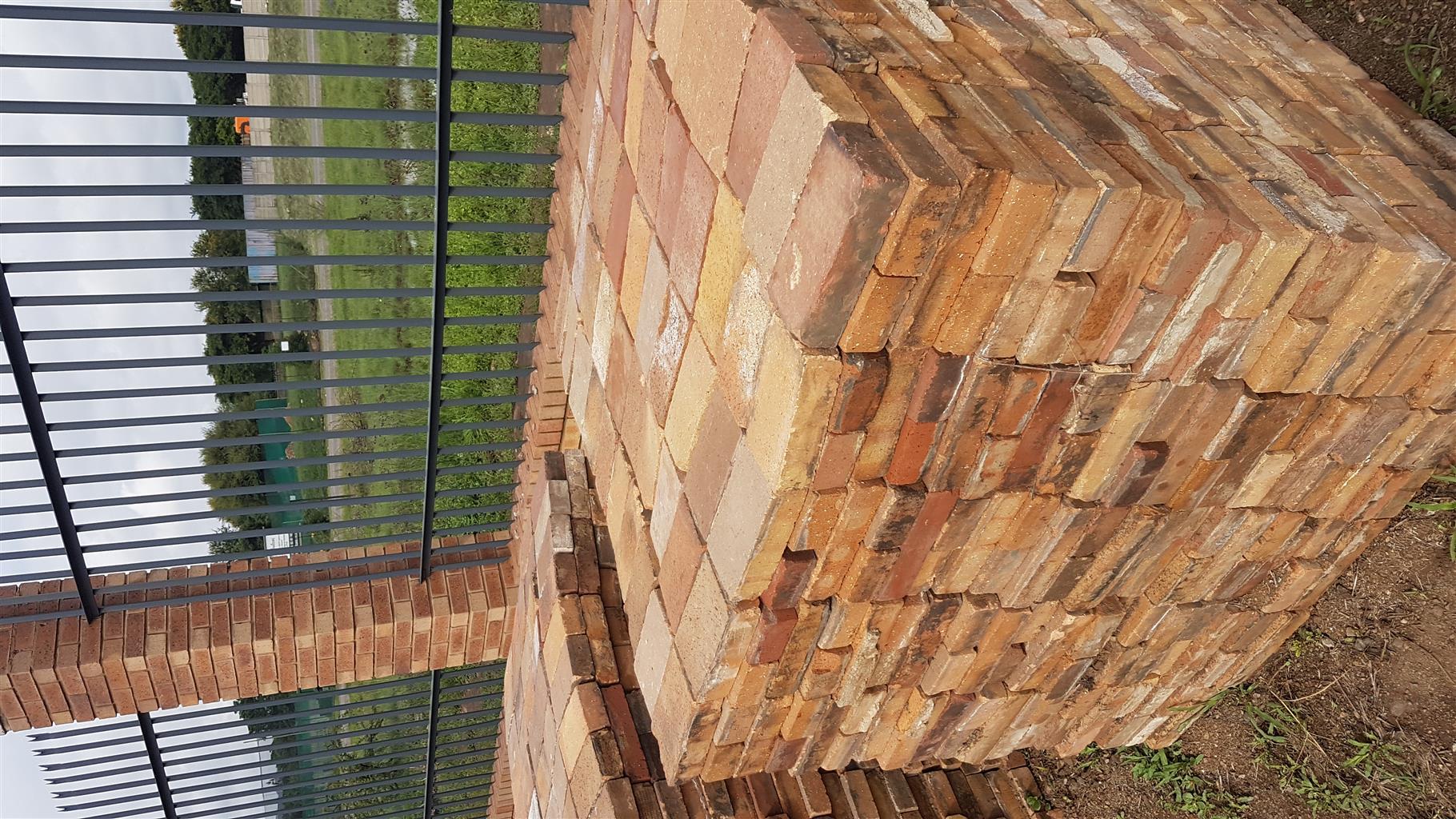 Paving clay 2nd hand bricks for ssle
