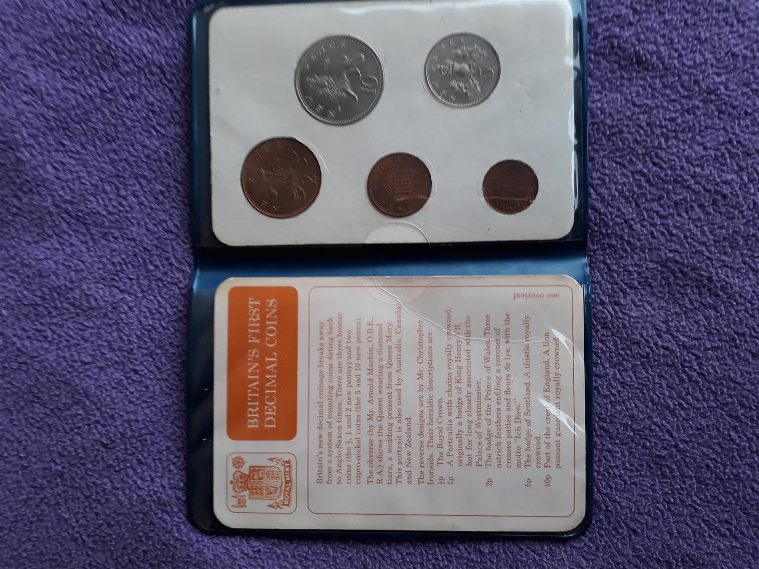 Britain's first decimal coins 1968 Decimal Day presentation pack  | Junk  Mail