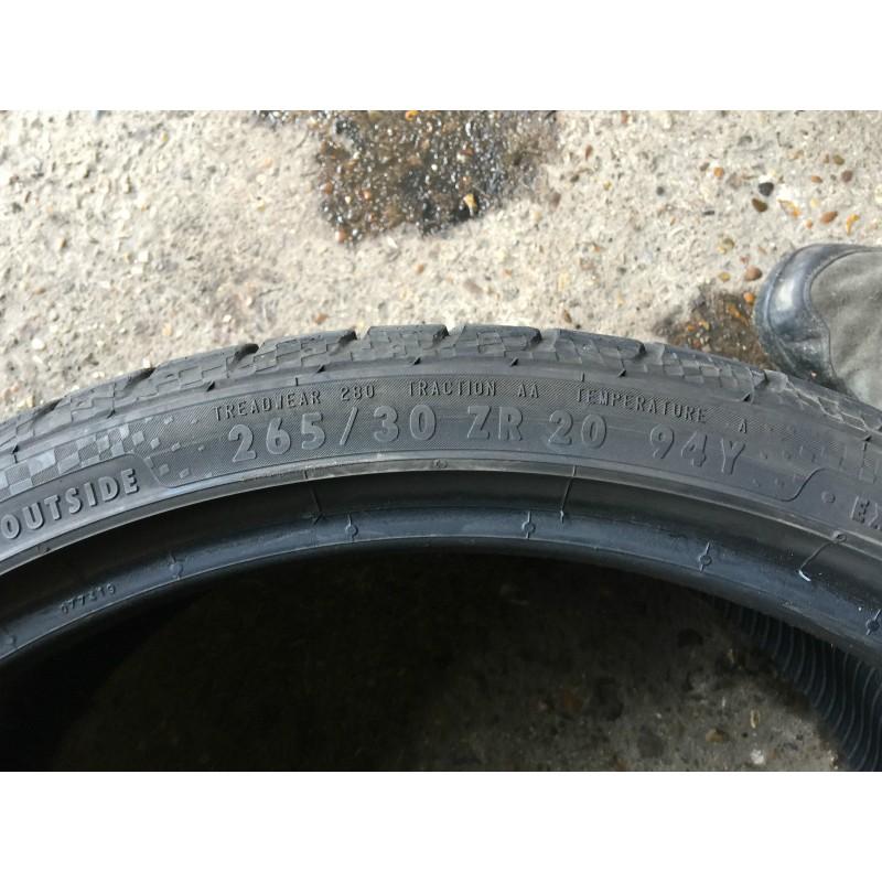 265/30 zr20 x 1 Continental Tyre(75% tread)