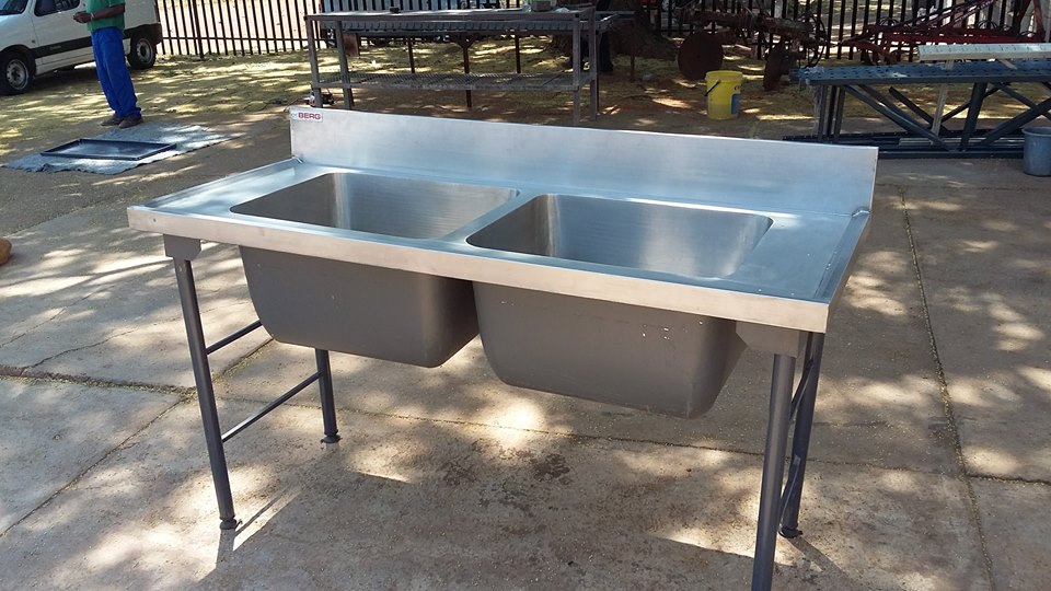 Industrial catering double sink