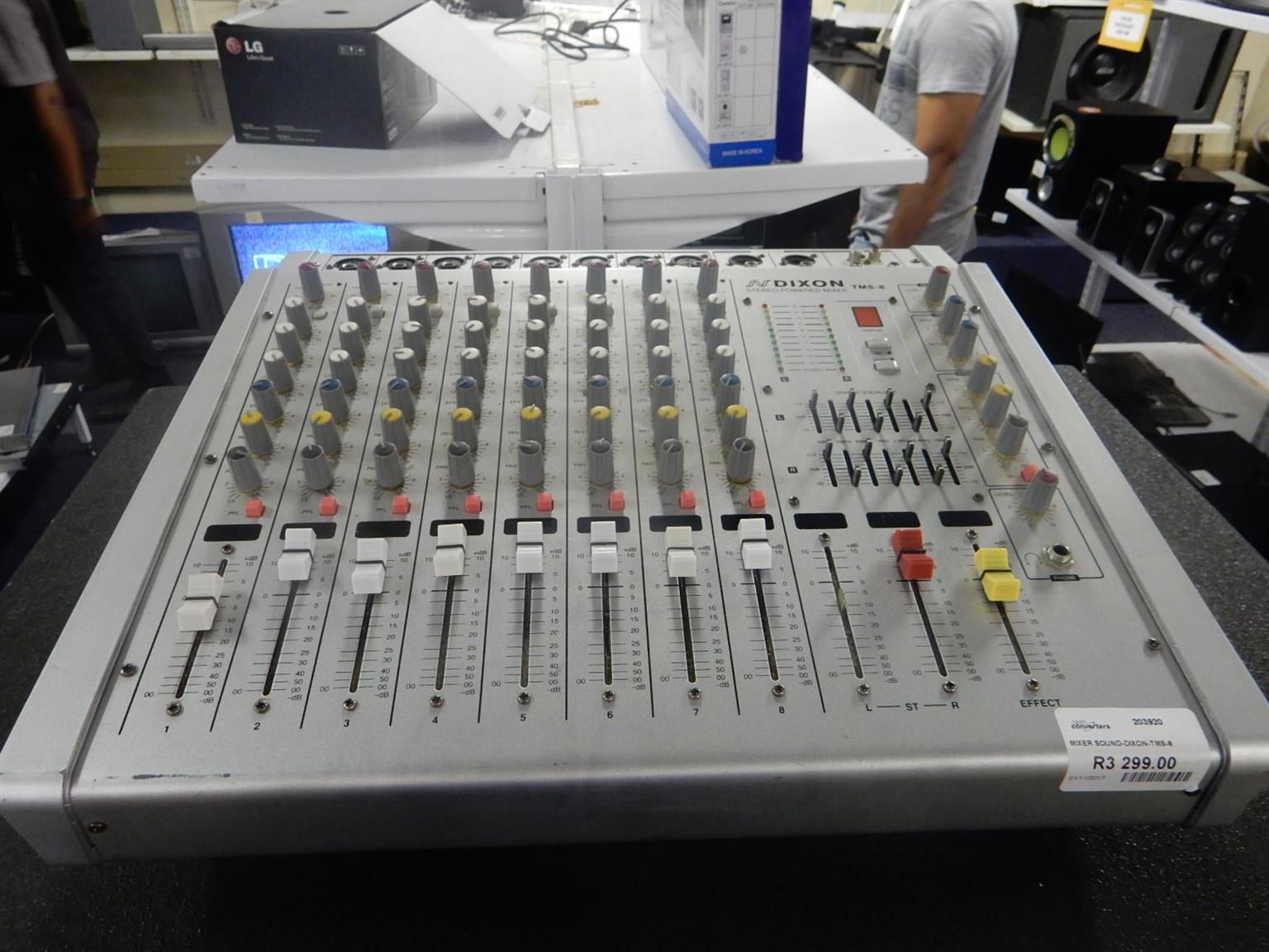 Dixon TMS-8 Stereo Powered Mixer