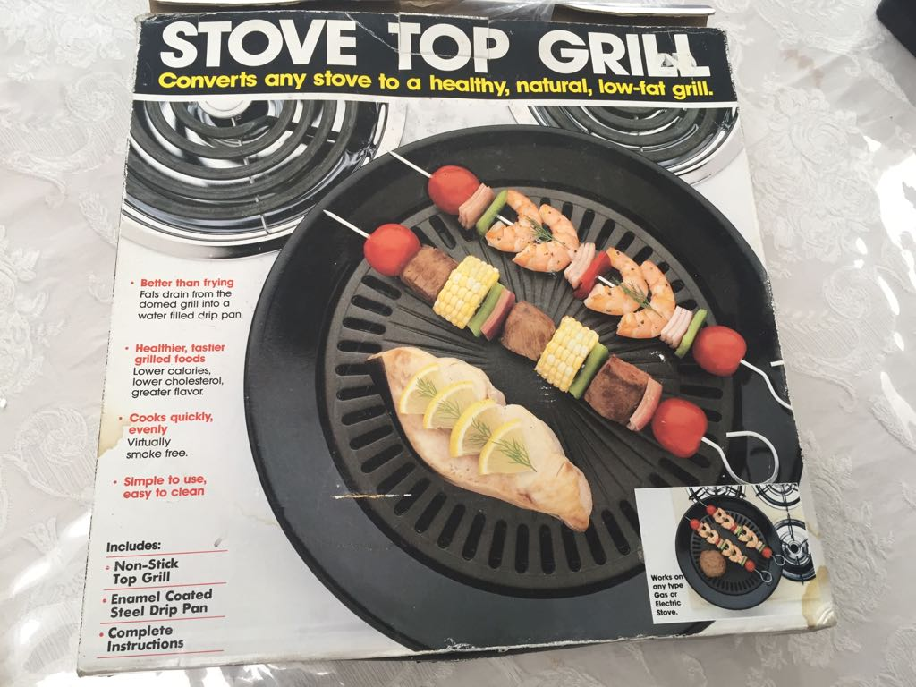 Stove top grill - in original box - used once or twice!